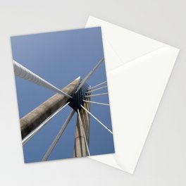 concrete and cables - modern suspension bridge - southport Stationery Cards