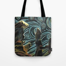 Pillars of Creation/Starry Night Tote Bag