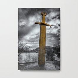 Llanberis Sword Snowdonia Metal Print