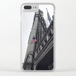 Wrigley Bulding Chicago Clear iPhone Case
