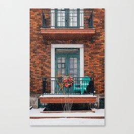 Petite neige Canvas Print