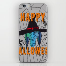 turquoise Witch Happy Halloween iPhone Skin
