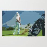 golf Area & Throw Rugs featuring GOLF by aztosaha