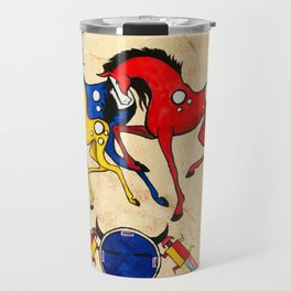 Navajo Horse Family Travel Mug