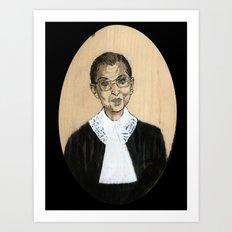 Ruth Bader Ginsburg Art Print