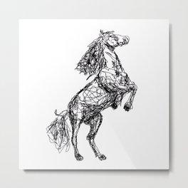 Rearing horse Metal Print