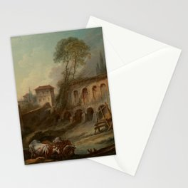 François Boucher - Imaginary Landscape with the Palatine Hill from Campo Vaccino Stationery Cards