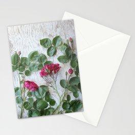 Vintage Red Rose Stationery Cards