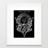 skyrim Framed Art Prints featuring Skyrim by Darkside-Shirts
