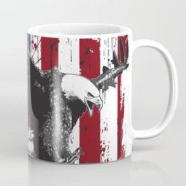 USA flag with eagle gift love bird Coffee Mug
