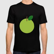 Apple 09 Black MEDIUM Mens Fitted Tee