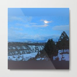 Winter Nightfall at the Gorge Metal Print