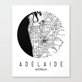 Adelaide Round Canvas Print