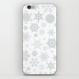 Snowflake pattern iPhone Skin