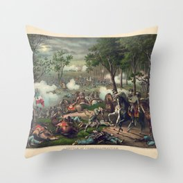 Civil War Battle of Chancellorsville April 30 to May 6, 1863 Throw Pillow
