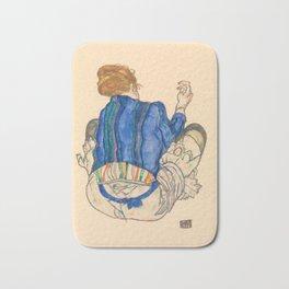 "Egon Schiele ""Seated Woman, Back View"" Bath Mat"