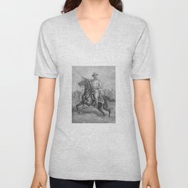 Colonel Theodore Roosevelt On Horseback Unisex V-Neck