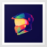 master chief Art Prints featuring Master Chief by Jonathan Trier