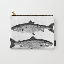 Two black Fish, Dos Peixes, Peces Carry-All Pouch