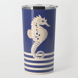 AFE Navy & Beige Seahorse Travel Mug