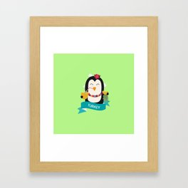 Penguin Hawaii from TURKEY T-Shirt for all Ages Framed Art Print