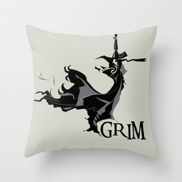 GRIM Throw Pillow