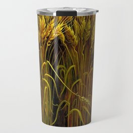 Classical Masterpiece 'Wheat' by Thomas Hart Benton Travel Mug