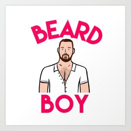 Beard Boy: Graeme Art Print