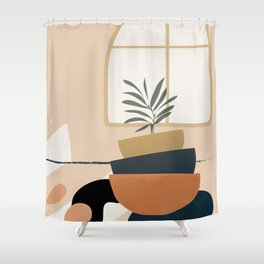Plant in a Pot Shower Curtain