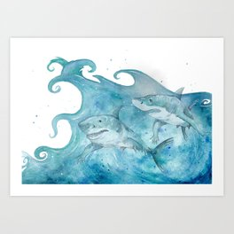 What If... Sharks had arms? Art Print