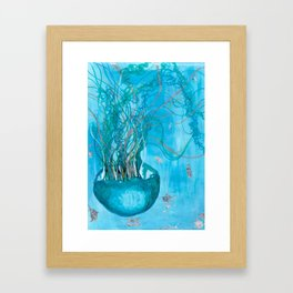 Jellyfish - Karla Leigh Wood Framed Art Print