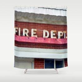 FIRE DEPARTMENT Shower Curtain