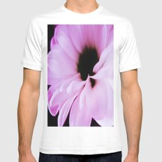 Pink and Black Mens Fitted Tee MEDIUM White