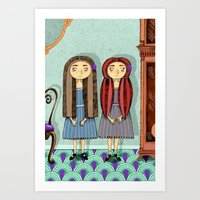 twins Art Prints featuring Twins by ilana exelby
