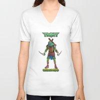 ninja turtle V-neck T-shirts featuring teen age,mutant,ninja turtle by store2u