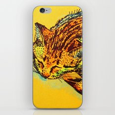 Cat Shimmie (ochre paper)  iPhone & iPod Skin