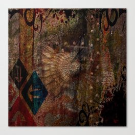 Rustic Textured Abstract Painting Canvas Print