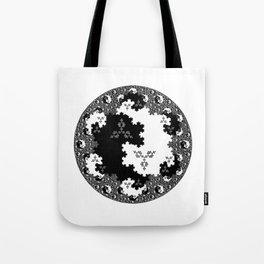 Fractal Taijitu Tote Bag