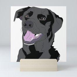 Black Labrador Dog (face) Mini Art Print