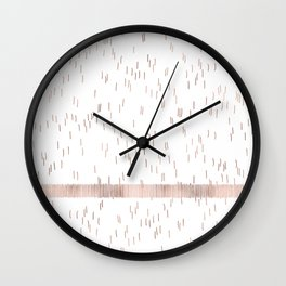 Rose Gold Scratches Wall Clock