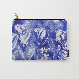 Hearts in blue and white Carry-All Pouch