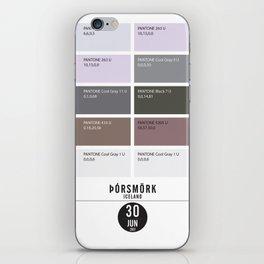 PANTONE glossary - Iceland - Þórsmörk  iPhone Skin