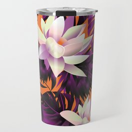Botanic pattern orange Travel Mug