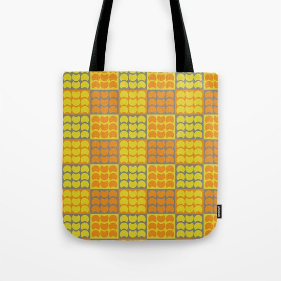 Hob Nob Orange Quarters Tote Bag