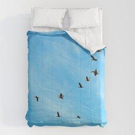 Cormorant flock Fly-over Comforters