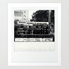 Baseball Stadium in the Dominican Republic Art Print