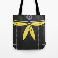 persona 4 Tote Bags featuring Persona 4 Rise Kujikawa Uniform by Bunny Frost