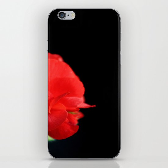 Red on black iPhone & iPod Skin