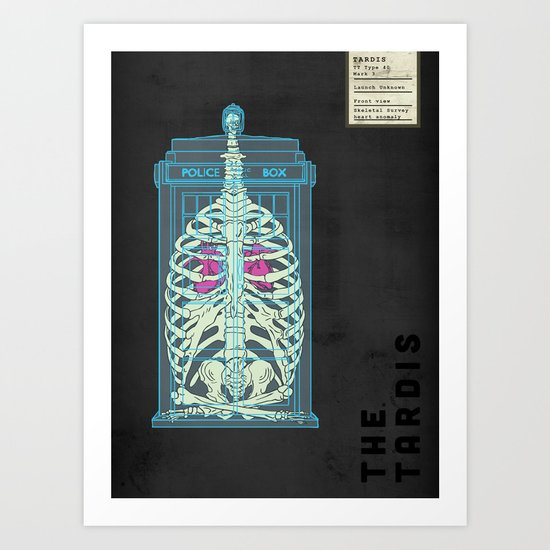 Spaceship Skeletal Survey: The Tardis Art Print