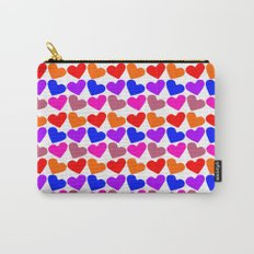 Colorful Hearts Pattern Carry-All Pouch